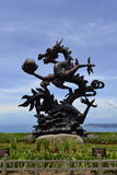 The Dragon Bronze in Yalong Bay, Sanya, China Royalty Free Stock Images