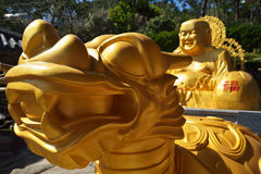 Dragon and Buddha statue in South Korea Royalty Free Stock Images