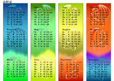 Dragon calendar for year 2012.  Stock Photo