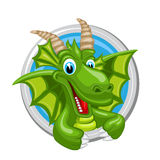 Dragon Capricorn Zodiac-teken Stock Afbeelding