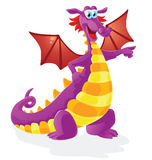 Dragon cartoon character, isolated Royalty Free Stock Photos