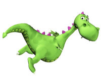 Dragon Cartoon - Flying away Royalty Free Stock Photo