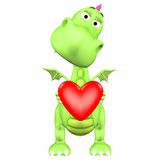 Dragon Cartoon in Love Royalty Free Stock Photos