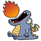 Dragon cartoon Royalty Free Stock Images