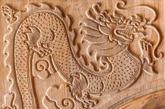 Dragon Carving Royaltyfri Fotografi