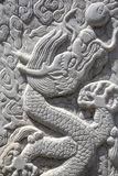 Dragon carving - close up Royalty Free Stock Images