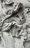 Dragon Carving in Hong Kong Royalty Free Stock Photography