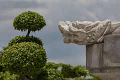 Dragon Carving On Stone Photographie stock