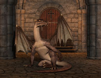 Dragon in a cathedral Stock Photos