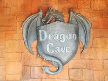 Dragon cave. The wall. Background, brown, Orange, gry. stock image