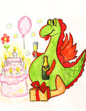 Dragon celebrating holiday Stock Images