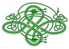 Dragon celtique de noeud ; Photographie stock libre de droits