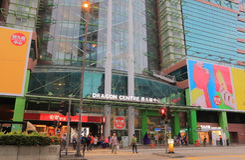 Dragon Center shopping mall Hong Kong. People visit Dragon Center shopping mall in Hong Kong. Dragon Center is a nine storey shopping centre in the Sham Shui Po Royalty Free Stock Photography