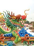 Dragon. Ceramic dragon in Chinese temple Stock Image