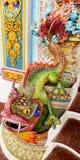Dragon ceramic statue at Wat Pariwat temple in Bangkok, Thailand Royalty Free Stock Images
