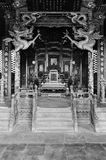 Dragon Chair. Chinse emperor's dragon chair, taken in Shenyang Imperial Palace, Chines Qing Dynasty Royalty Free Stock Photos