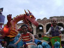 Dragon chariot Royalty Free Stock Image
