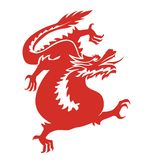 Dragon china red Royalty Free Stock Photography