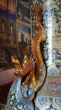 Dragon on china vase  handle Royalty Free Stock Photo