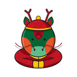 Dragon Chinese Happy New Year-Vector Stock Afbeelding