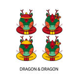 Dragon Chinese Happy New Year. Vector Illustration vector illustration