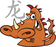 Dragon Chinese horoscope sign Royalty Free Stock Images