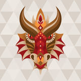 Dragon. Chinese horoscope sign. Vector illustration in ethnic style vector illustration