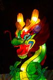 Dragon Chinese Lantern Festival. ALBUQUERQUE, NEW MEXICO, USA Chinese Lantern Festival lit up at night to celebrate the Chinese New Year Royalty Free Stock Photo