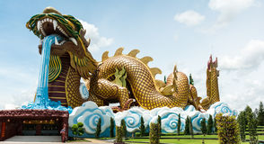 Dragon Chinese New Year dourado Fotos de Stock Royalty Free