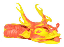 Dragon chinese plasticine model Royalty Free Stock Photos