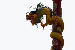 Dragon. Chinese style dragon statue isolated Royalty Free Stock Photography