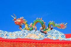 Dragon. Chinese style dragon statue in temple Stock Photo