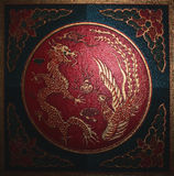Dragon. Chinese symbols Royalty Free Stock Images
