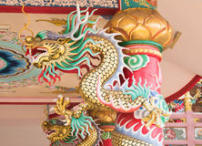 Dragon. In Chinese temple art in Ang Sila, Chonburi,Thailand Royalty Free Stock Photo