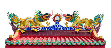 Dragon on chinese temple Stock Photo