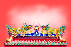 Dragon on chinese temple Royalty Free Stock Photos