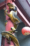 Dragon at Chinese Temple Entrance Stock Photography