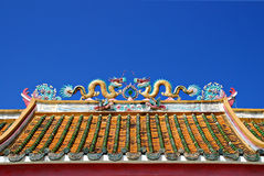 Dragon Chinese Temple Roof Royalty Free Stock Photo