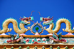 Free Dragon Chinese Temple Roof Royalty Free Stock Photos - 25575448