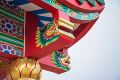 Dragon at Chinese Temple Roof Royalty Free Stock Image