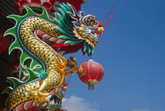 Dragon. In chinese temple at Thailand Royalty Free Stock Photo