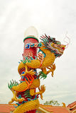 Dragon at chinese temple Royalty Free Stock Photography