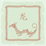 Dragon- chinese zodiac Stock Images