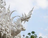 Dragon chinese zodiac. At white temple, Wat Rong Khun, Chiang Rai, Thailand stock photo