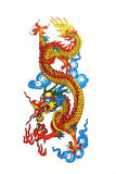 Dragon chinois coloré Image stock