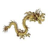 Dragon chinois d'or Images libres de droits