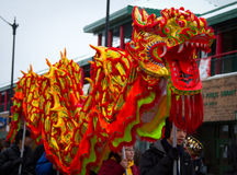 Dragon chinois de défilé d'an neuf Photo libre de droits