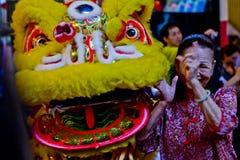 Dragon chinois de danse Images libres de droits