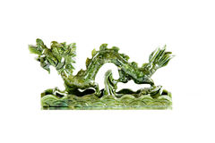 Dragon chinois de jade Photo stock