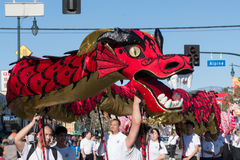 Dragon chinois pendant Dragon Parede d'or. Photos libres de droits